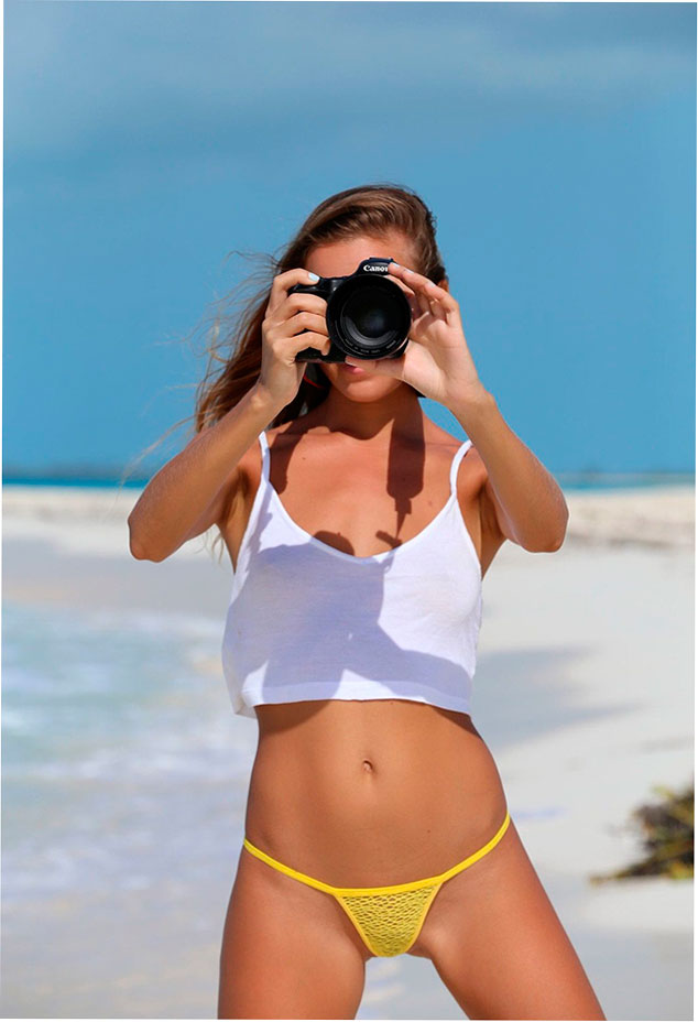Эро фото: Молодая Katya Clover на берегу океана