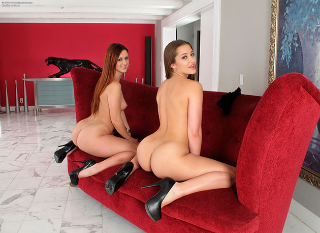 Эро фото: Жопастые лесбиянки Karlie Montana и Dani Daniels